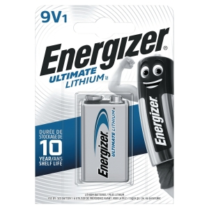 BATTERI ENERGIZER ULTIMATE LITHIUM 6LR61/9V