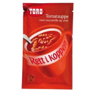 Tomatsuppe Toro Rett i koppen Tomatsuppe m/mozzarella og urter eske20