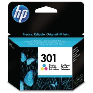BLEKKPATRON HP 301 CH562E FARGE