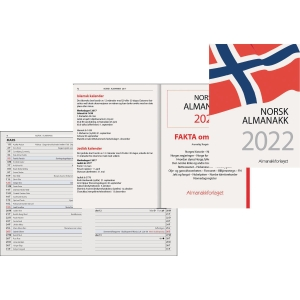 KALENDERE 7.SANS NORSK ALMANAKK HVIT
