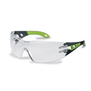 Vernebrille Uvex Pheos klare linser  sort/grønn
