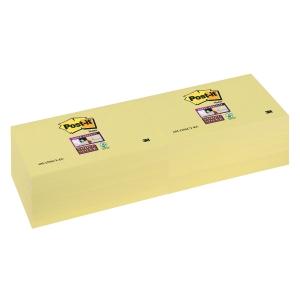 Post-it® Super Sticky Notes 655-12SSCY 76mm x 127mm gul pakke a 12 blokker
