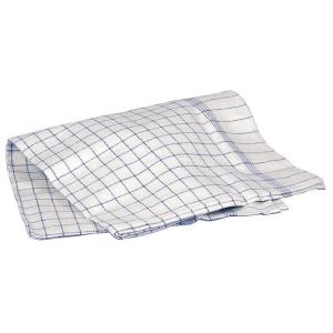 Kjøkkenhåndklær bomull hvit/blå pk10