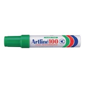 Permanent merkepenn Artline 100, skrå spiss, grønn