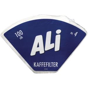 Kaffefilter 1x4 hvit eske à 100 stk
