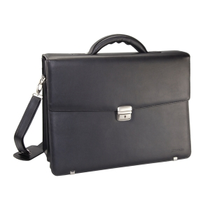 MONOLITH LEATHER LOOK BRIEFCASE