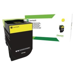 Lasertoner Lexmark 80C2HYE, 3 000 sider, gul