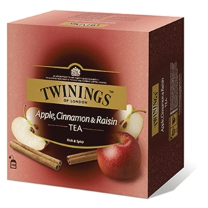 Te Twinings Apple, Cinnamon & Raisin, pakke à 100 stk.