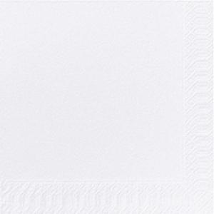 Servietter Duni Finess 3-lag 33x33 hvit pakke à 250 stk