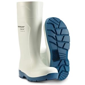 Vernestøvle i PU Dunlop 61131 FoodPro Multigrip S4 hvit str. 41