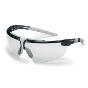 Vernebrille Uvex i-3 klare linser sort/lysegrå