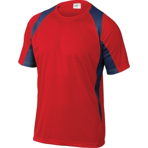 T-shirt Deltaplus Bali rød/grå str. xl