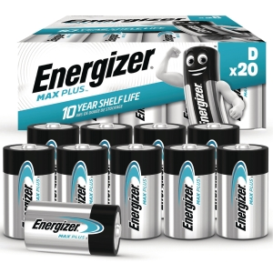 BATTERI ENERGIZER ALKALINE ADVANCED D/LR20 PAKKE Á 20 STK