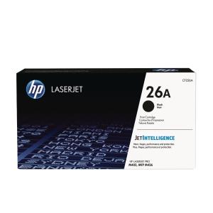 Lasertoner HP 26A CF226A 3.1k sort