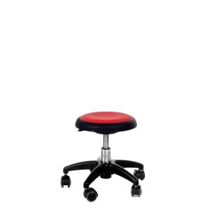 Arbeidsstol Génito New Star 516, uten rygg, medium, rød