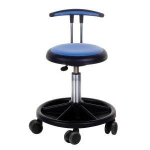 Arbeidsstol Génito New Ufo 425, med lav T-rygg, medium, blå