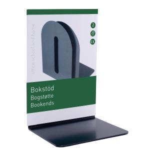 BOKSTØTTE METALL 20X14X11CM SORT PAKKE À 2 STK