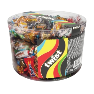 Blandet sjokolade Twist Mini Mix, 1,5 kg
