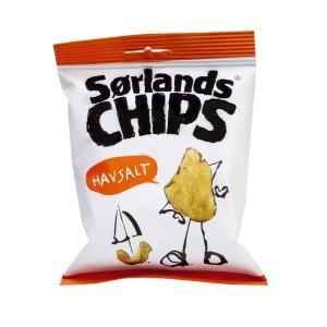Chips Sørlands havsalt 50 stk/pakke