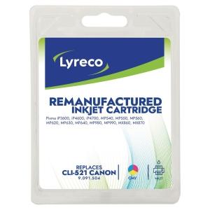 BLEKKPATRON LYRECO KOMPATIBEL CANON CLI-521 CMY