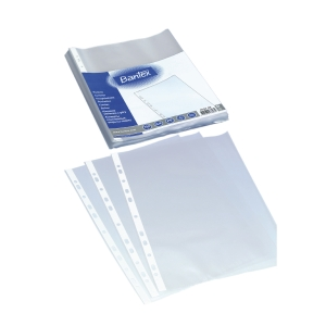 Plastlomme Bantex, med hull, A4, 40 µm, pakke à 100 stk.