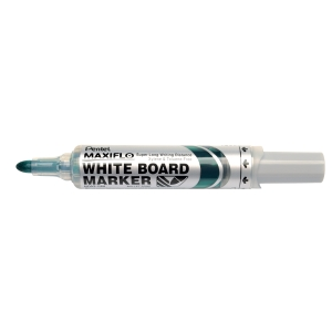 Whiteboardpenn Pentel Maxiflo, rund spiss, grønn