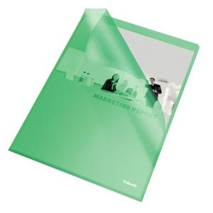 Omslag Esselte, A4, grønn, pakke à 100 stk.