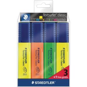 PK4 STAEDTLER TEXTSURFER H/LIGH364 ASS