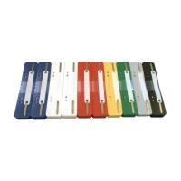 Heftstreifen, kurz, PP, Kunststoffdeckleiste, farbig sortiert, 250 Stück