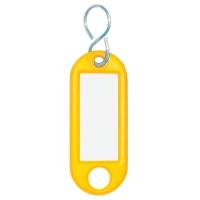 Schlüsselanhänger Wedo 262803405, aus Kunststoff, mit S-Haken, gelb