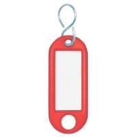 Schlüsselanhänger Wedo 262803402, aus Kunststoff, mit S-Haken, rot