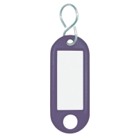Schlüsselanhänger Wedo 262803403, aus Kunststoff, mit S-Haken, blau