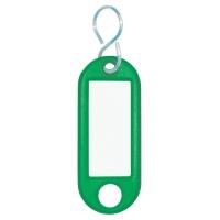Schlüsselanhänger Wedo 262803404, aus Kunststoff, mit S-Haken, grün
