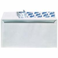 Briefumschläge DIN lang, ohne Fenster, Haftklebung, 80g, weiß, 500 Stück