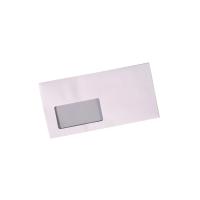 Briefumschläge DIN lang, mit Fenster, Haftklebung, 80g, weiß, 500 Stück