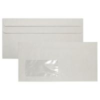 Briefumschläge DIN lang, mit Fenster, Selbstklebung, 75g, Recycling, 1000St