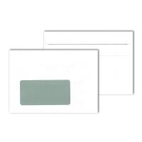 Briefumschläge C6, mit Fenster, Selbstklebung, 80g, weiß, 1000 Stück
