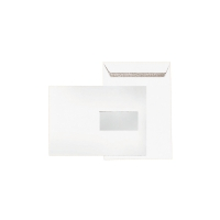 Versandtaschen C5, mit Fenster, Selbstklebung, 90g, weiß, 500 Stück