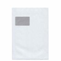 Versandtaschen C4, mit Fenster, Selbstklebung, 100g, weiß, 250 Stück