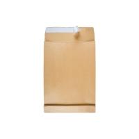 Faltentaschen Bong 8350203, E4, 40mm-Falte, ohne Fenster, HK, braun, 100 Stück