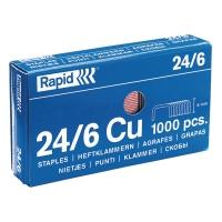 Heftklammern Rapid 24/6, verkupfert, 1000 Stück