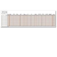 Urlaubsplaner 2018 Bühner UP12F, 26 Mitarbeiter, 12 Monate / 1 Seite,99,5x29,7cm