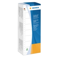 Universal-Etiketten Herma 8211, 1bahnig, 88,9 x 35,7mm (LxB), weiß, 4000 Stück