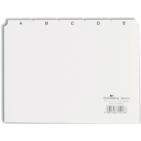 Leitkartenregister Durable 3650, A-Z, A5 quer, weiß