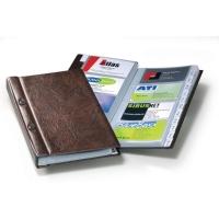 Visitenkartenalbum Durable 2382, Visifix, für 200 Karten, 145 x 255mm, braun