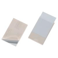 Selbstklebetaschen Durable Pocketfix 8079, 90 x 57mm, transparent, 10 Stück