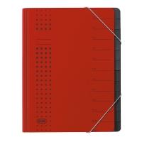Ordnungsmappe Elba Chic 42496, 12 Fächer, mit Gummizug, rot