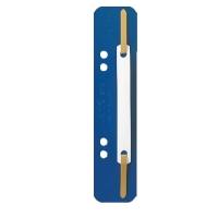 Heftstreifen Leitz 3710, kurz, PP, Kunststoffdeckleite, blau, 25 Stück