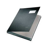Unterschriftsmappe Leitz 5700, 20 Fächer, PP-kaschierter Einband, schwarz
