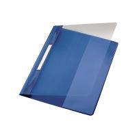 Schnellhefter Leitz Exquisit 4194, A4 Überbreite, aus PVC-Folie, blau